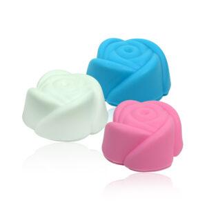 Mini Formas Rosinha em Silicone com 6 unidades – Cores Sortidas