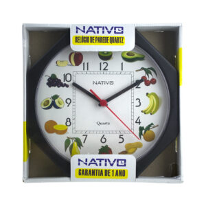 Relógio de Parede 'Salada de Frutas' 23x23cm
