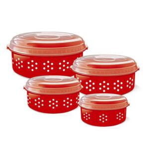 Conjunto de Potes 'Poá' com 4 Peças