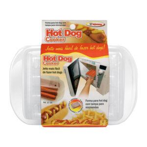 Forma para Hot Dog com Tampa para Micro-ondas